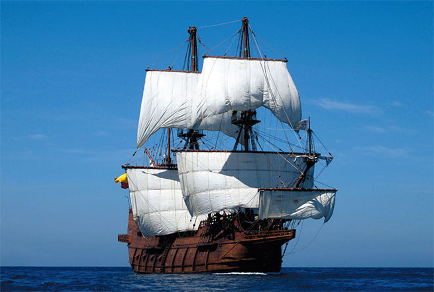 Spanish Galleon Participates In Tall Ship Festival In
