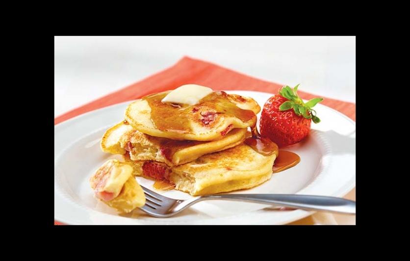 Strawberry Ricotta Pancakes