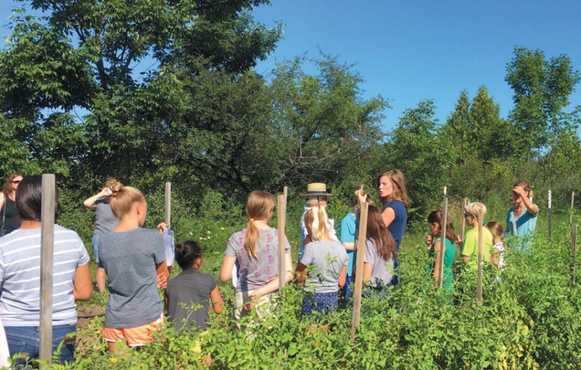 Kids cooking school experience includes farm and gardens