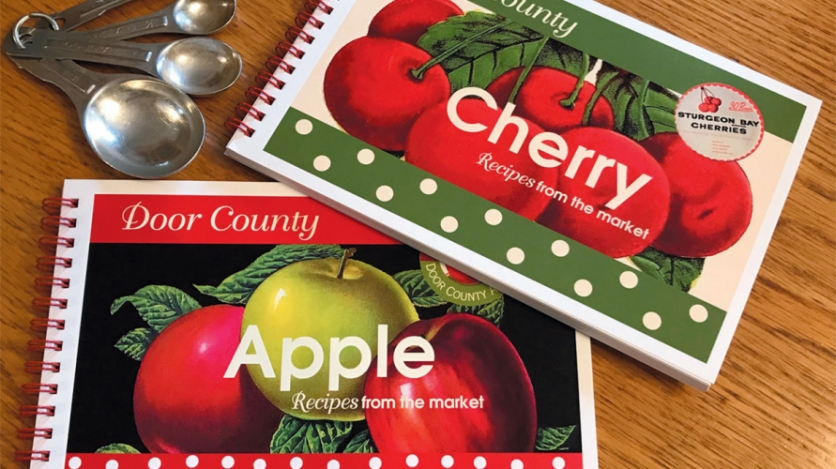 Cherry and Apple recipe books.