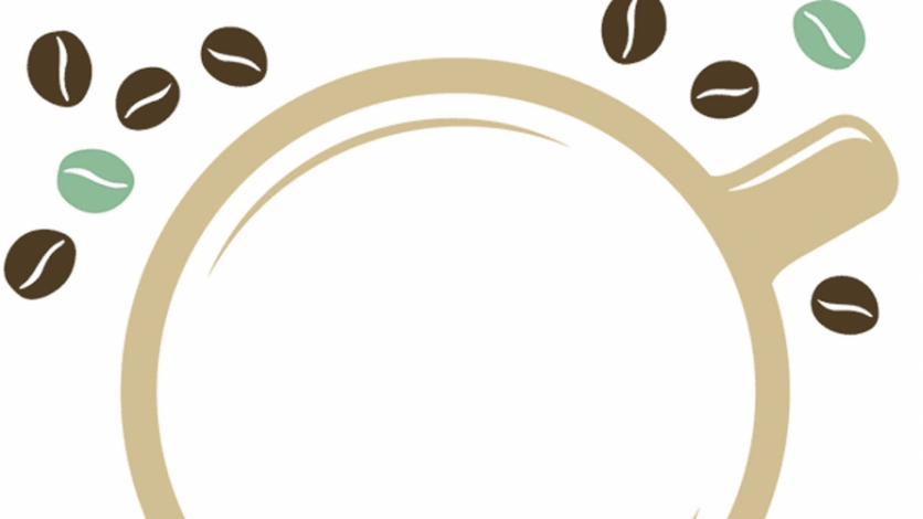 coffee cup and coffee beans graphic