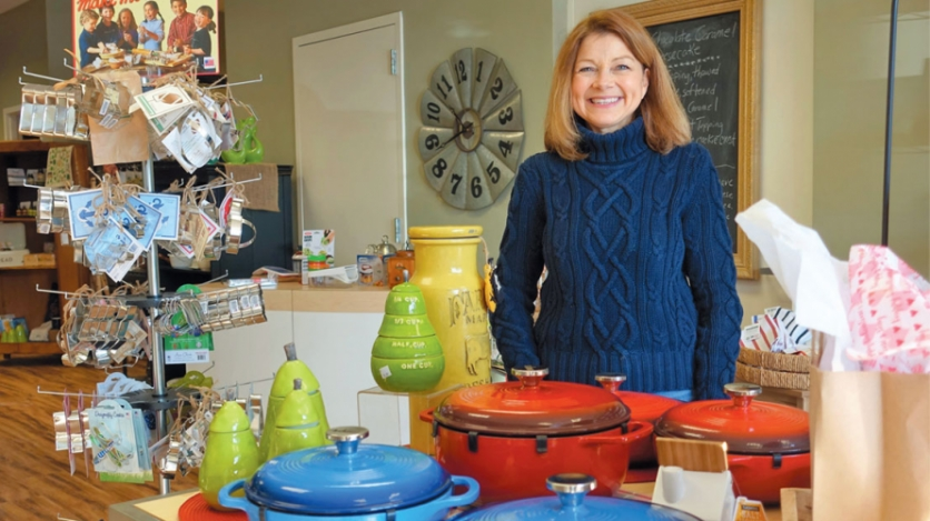 Katherine Forrest in her new Suamico kitchen store Season to Taste.