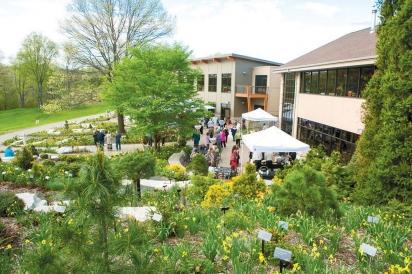 Back patio at the Green Bay Botanical Garden.