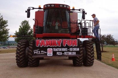 The sign on the tractor says it all at Schopf's Hilltop Dairy and Dairy View Country Store. Contributed photo