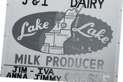 The Grasse family farm sign