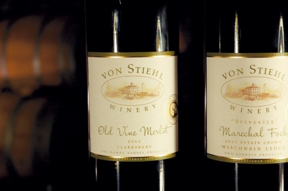 von Stiehl's Old Vine Merlot and Sylvester