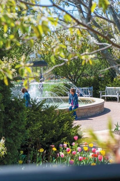 Fountain at Green Bay Botanical Garden