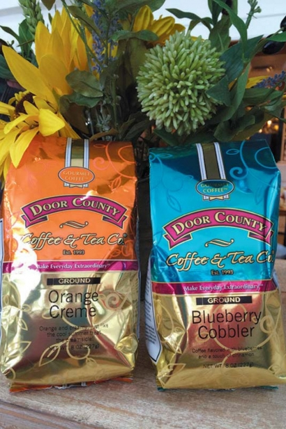 Flavored coffees make up half of the roasts at Door County Coffee & Tea Co.