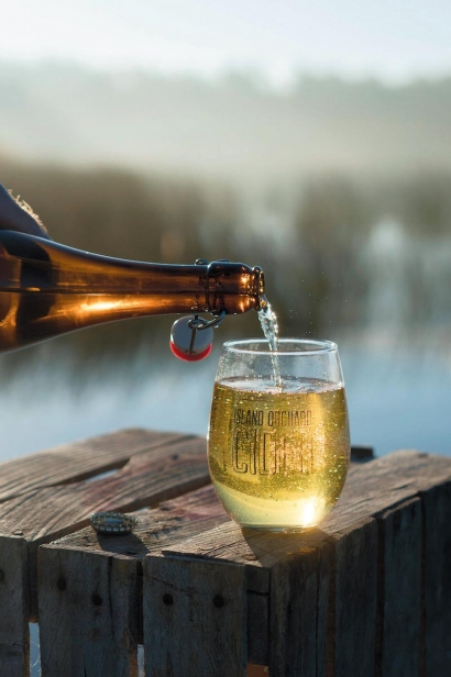 A pour of Island Orchard cider. Contributed photo