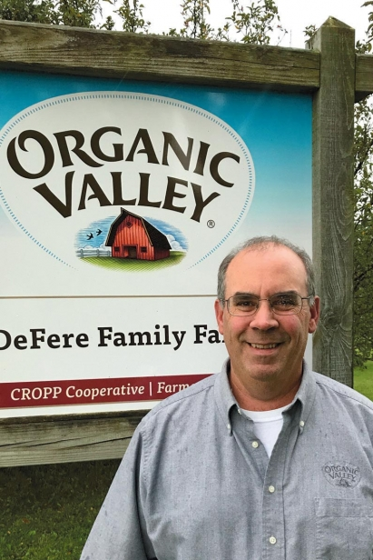Kevin Kiehnau at one of the roughly 600 farms he and his staff work with at Organic Valley