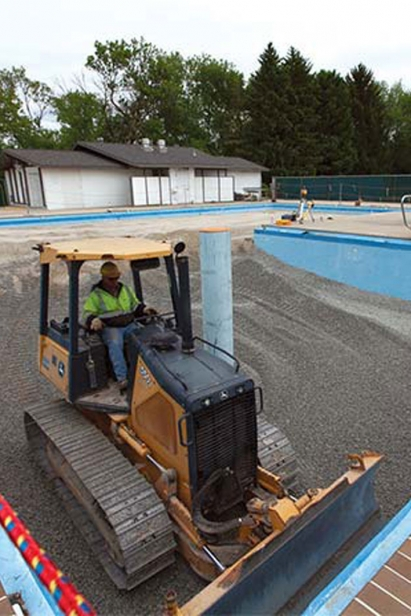 turning country club pool into garden