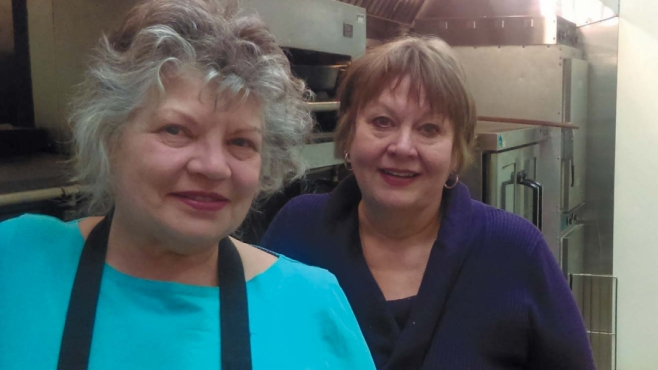 Serves You Right owner Morag Hornsby, right, with Christine Degeneffe.