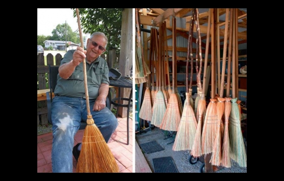 Bob Duffrin and his brooms
