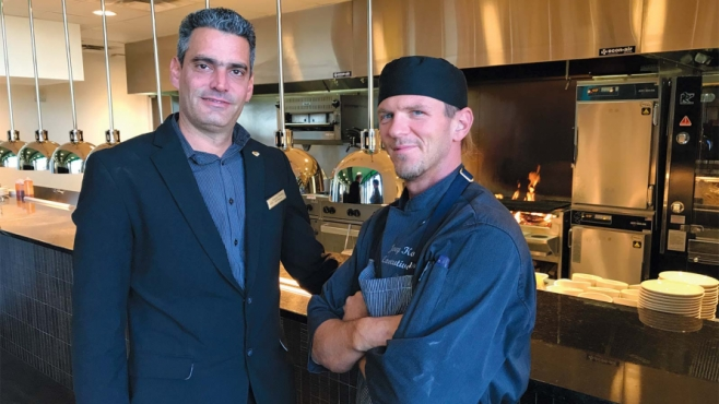 Food & Beverage Manager Gianny Darias and Head Chef Joey Kolenc . Edible Door photo