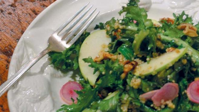 Warm Escarole & Quinoa Salad
