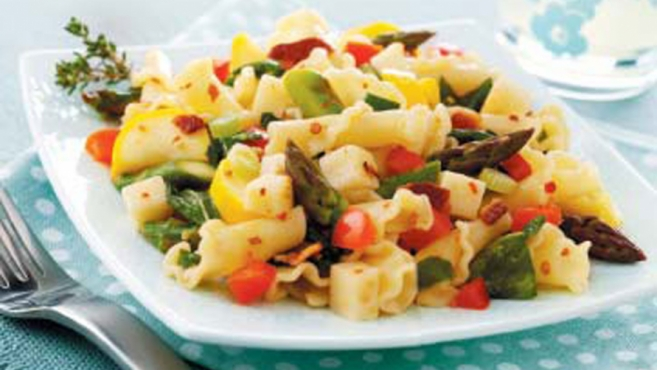 Peppery Vegetable Pasta Salad