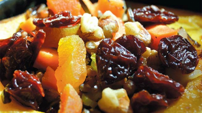 wheat berry salad squash